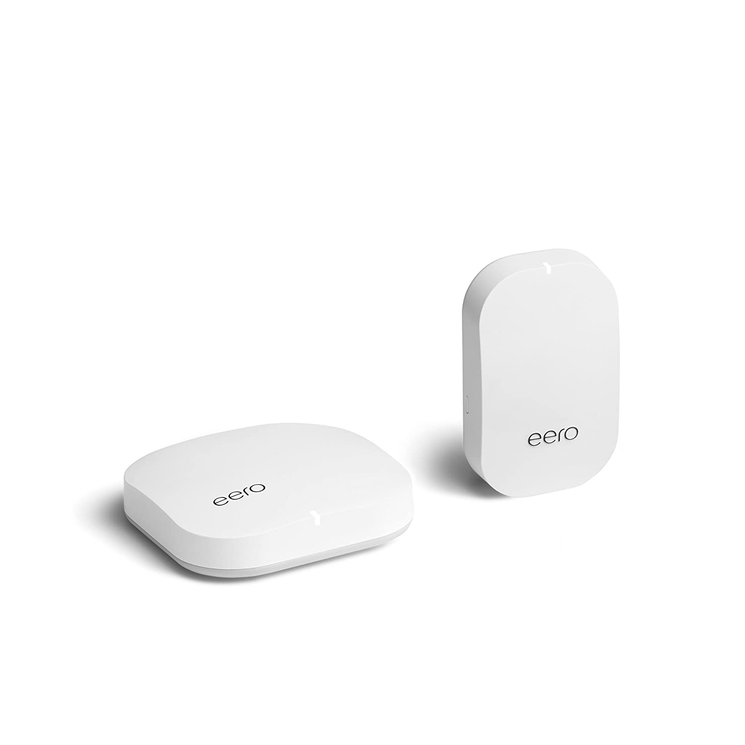 eero Home WiFi System 1 eero Pro + 1 eero Beacon Advanced Tri-Band Mesh WiFi System to Replace Traditional Routers and WiFi Ranger Extenders with eero Plus 1 Year Subscription