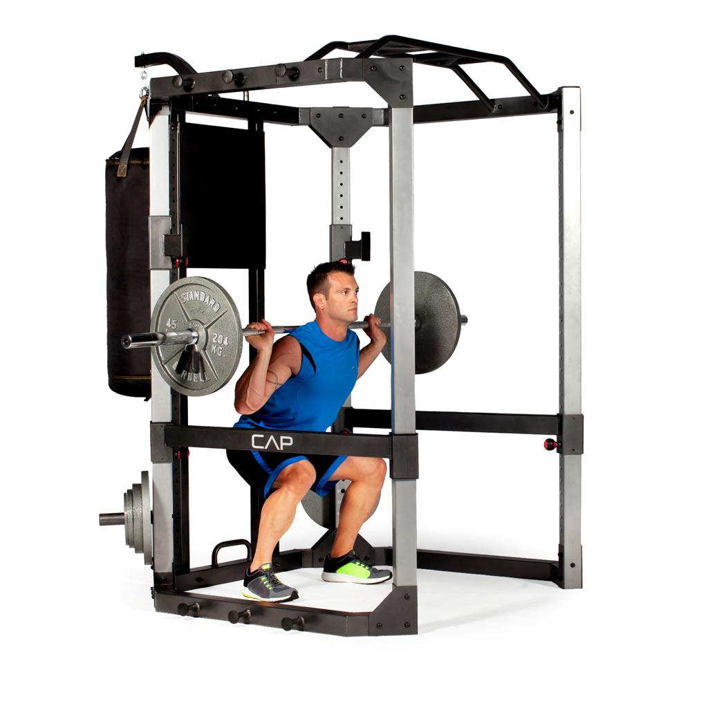 Power Rack With Weights: Amazon.com: CAP Barbell Ultimate Power Cage With