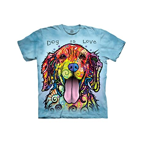 4a5e6b74d3f2 Amazon.com: The Mountain Kids Dog is Love T-Shirt: Clothing