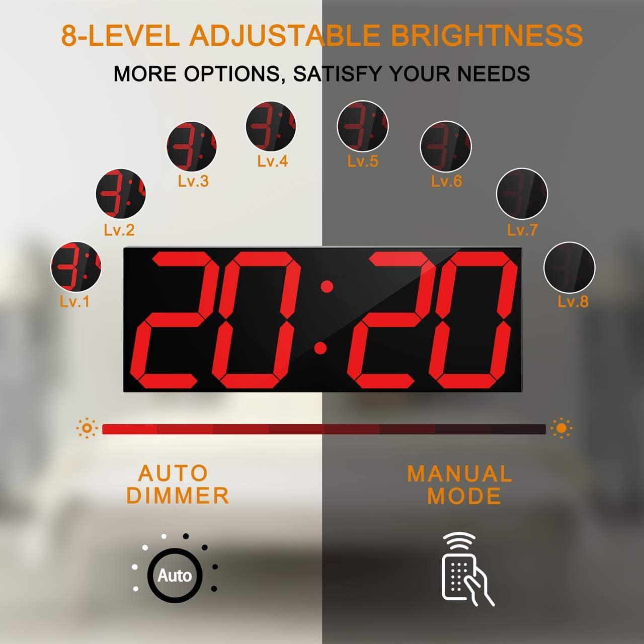 Remote Control Digital LED Wall Clock