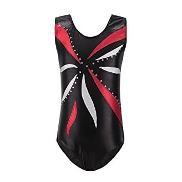 11cb7a0a2d6f Qlan Girls Sparkle Gymnastics Leotards Sleeveless Ballet Shining ...