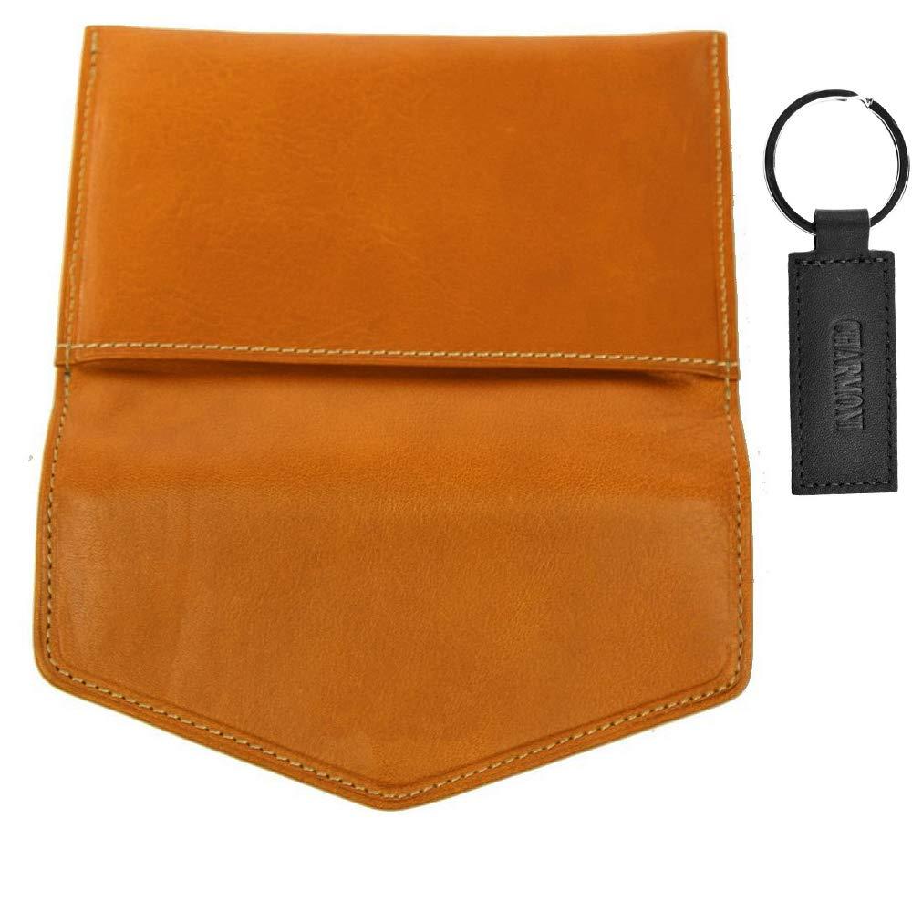 Charmoni/® Epee /étuis Enveloppe Porte Papiers Voiture Carte Grise avec Porte Cl/é en Cuir Femme Homme Multicolor Bleu