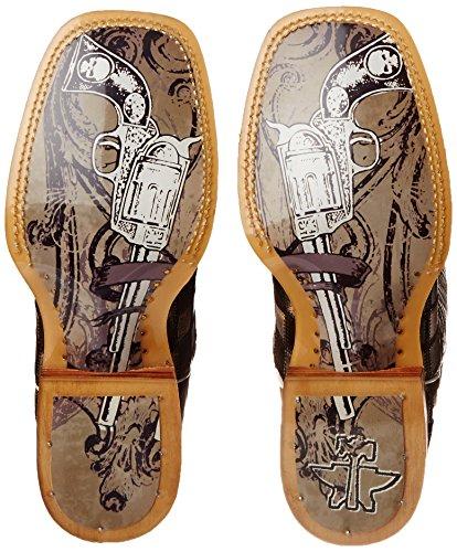 Western Gun Boot Brown Desert Tin Check Men's Metal Sand Haul Shoes cWwvcqgpYS