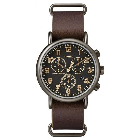 6be71c63f795 Timex Reloj Analógico para Mujer de Cuarzo con Correa en Cuero TW2P85400   Amazon.es  Relojes