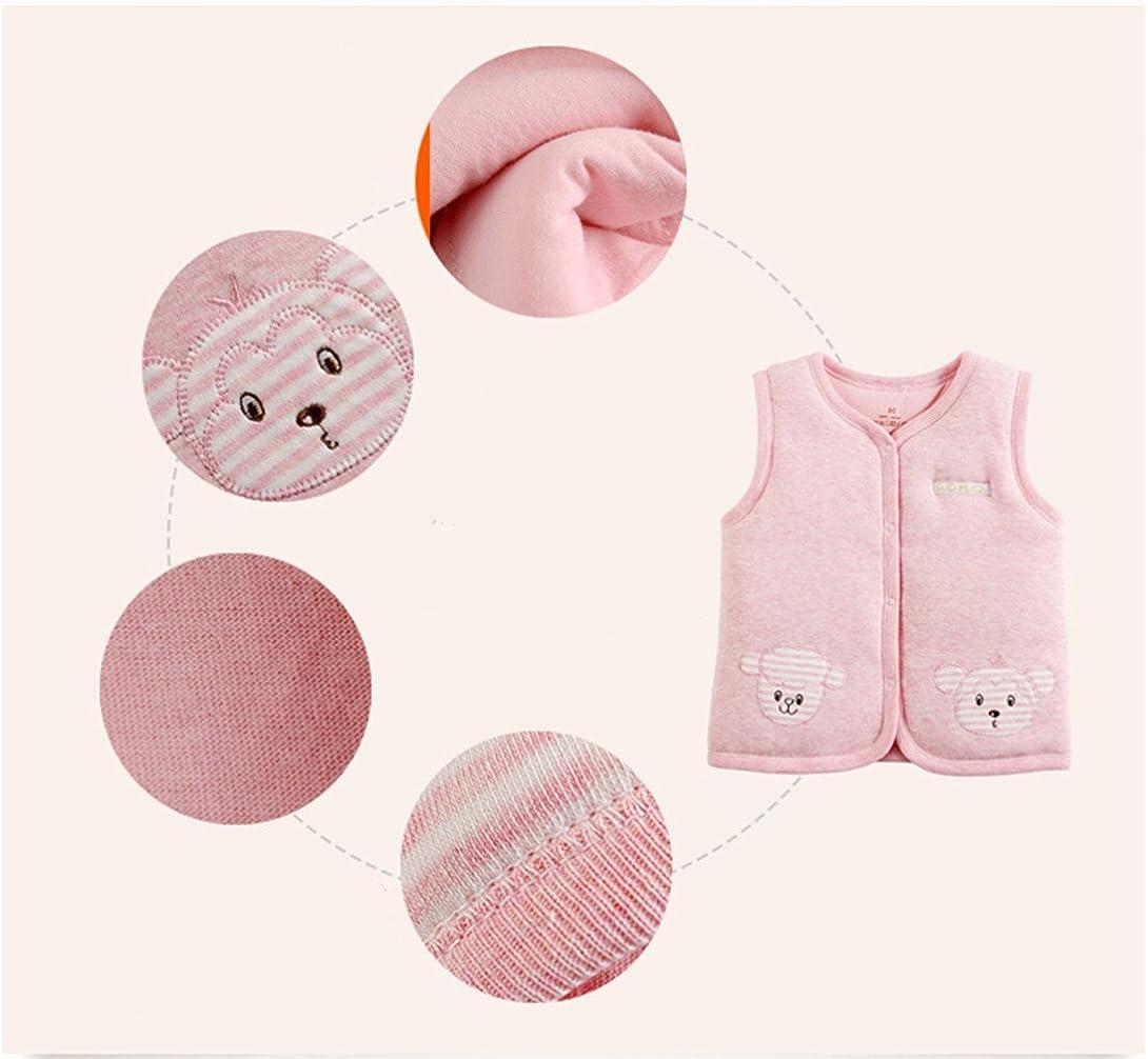 imbottito e in caldo cotone Monvecle Gilet unisex per neonati e bambini molto piccoli