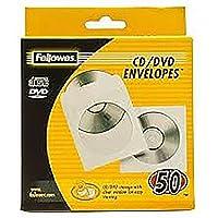 Fellowes 90690 - Pack de 50 Sobres Papel para CDs/DVDs, Color Blanco