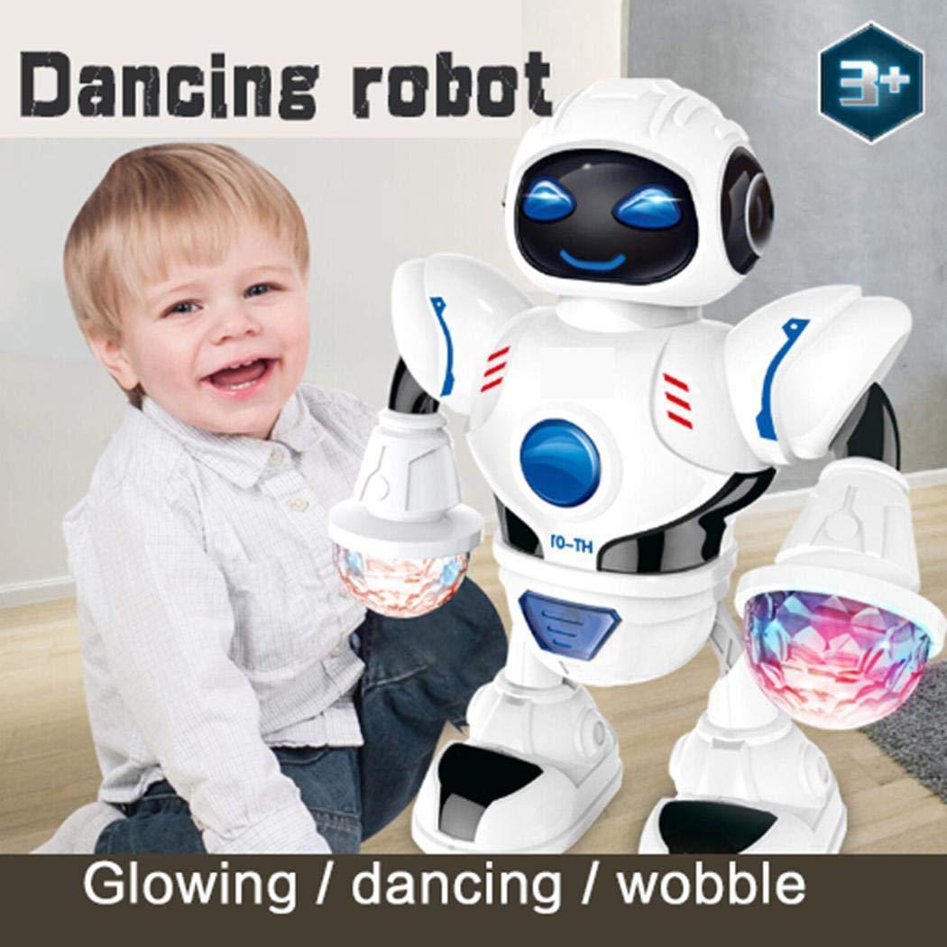 sholdnut Toddler Multifunctional LED Smart Robot Dance Music Kids Education Toys Robotics