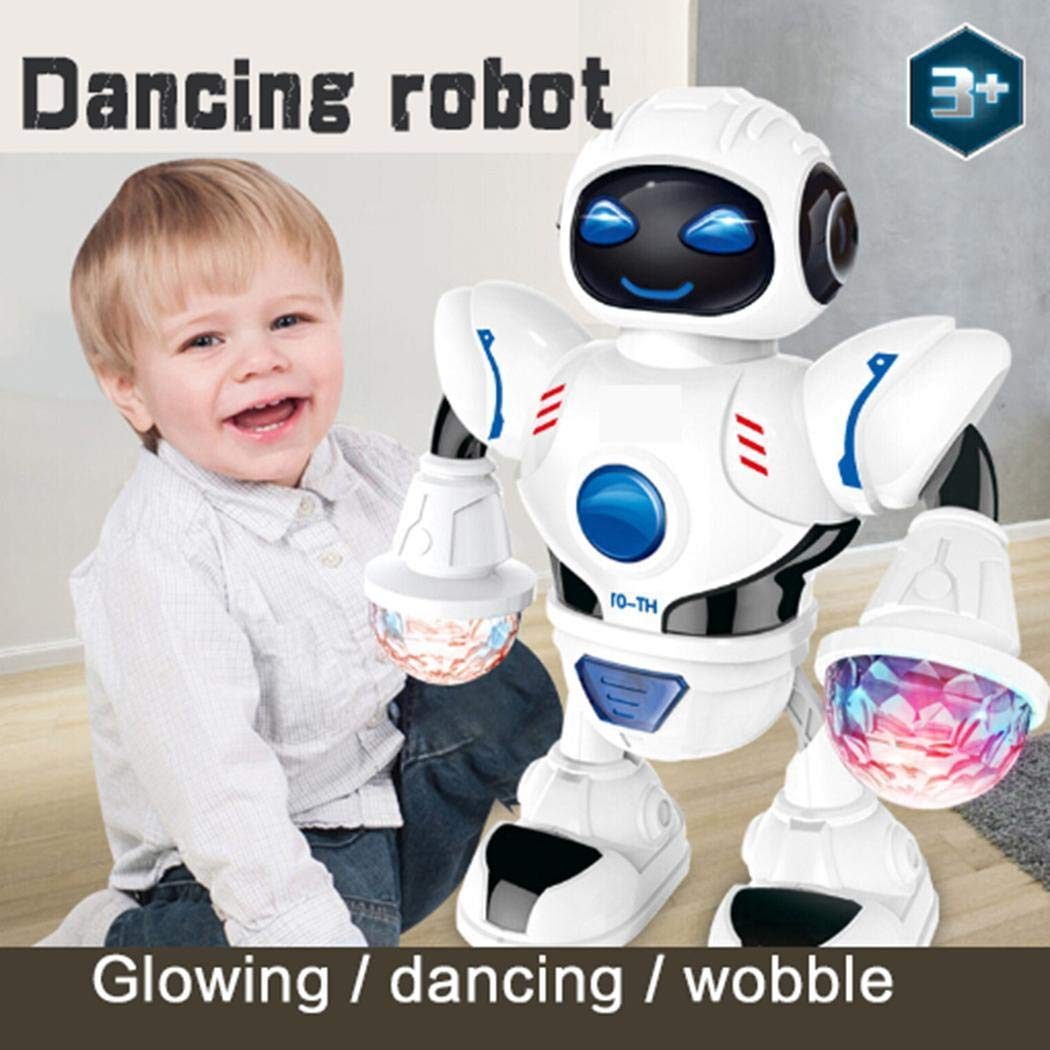 lernmeem Electronic Walking Dancing Robot Toys for Kids - Little Robot with Music, LED Lights for 3 Year olds- Battery Operated Robot Toy for Girls Boys Kids by lernmeem (Image #1)
