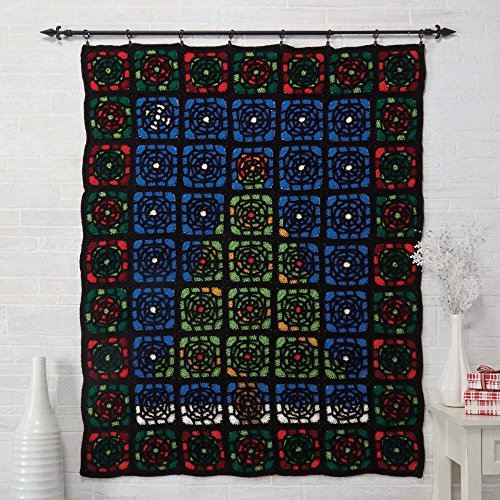 Herrschners Stained Glass Christmas Crochet Afghan Kit