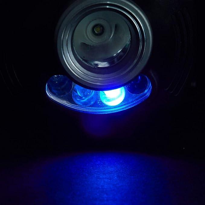 Balzer KOPFLAMPE mit Sensor EIN-// Ausschaltfunktion Wahlweise Wei/ß- Rot oder UV-Licht