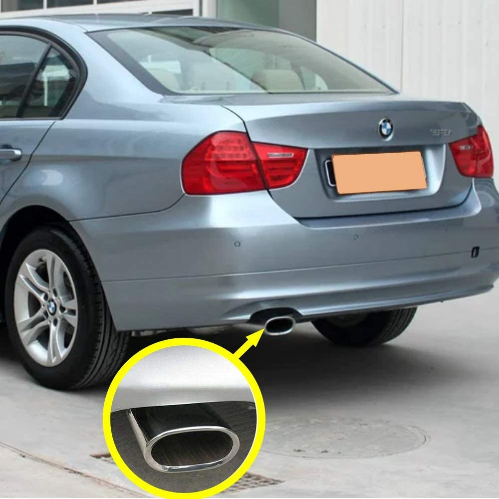 SHIYM-Xiao DHI-Y-M-SPY Carmon en Acier Inoxydable Embout d/échappement Tuyau Silencieux /échappement Syst/ème Car Styling Tip modifi/é Tail Voiture for BMW S/érie 3 318 2005-2012