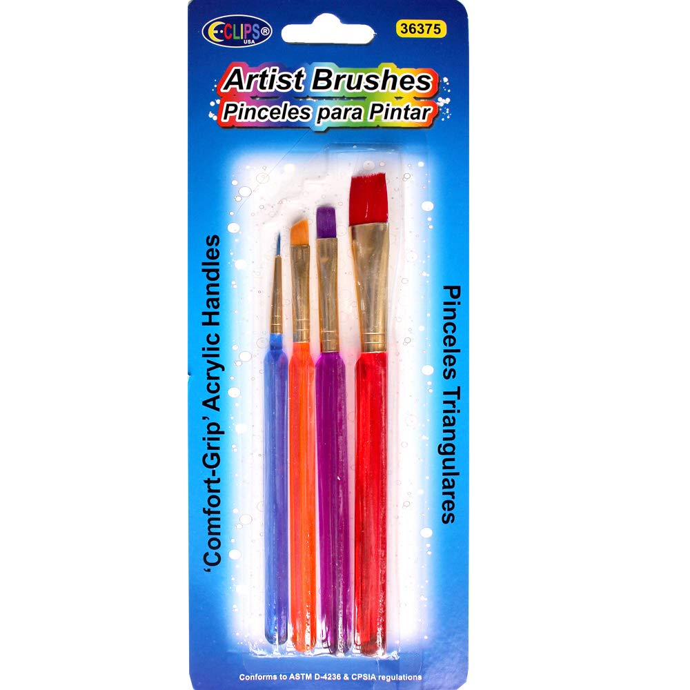 Comfort Grip Artist Brushes with Acrylic Handles (Units per case: 48)