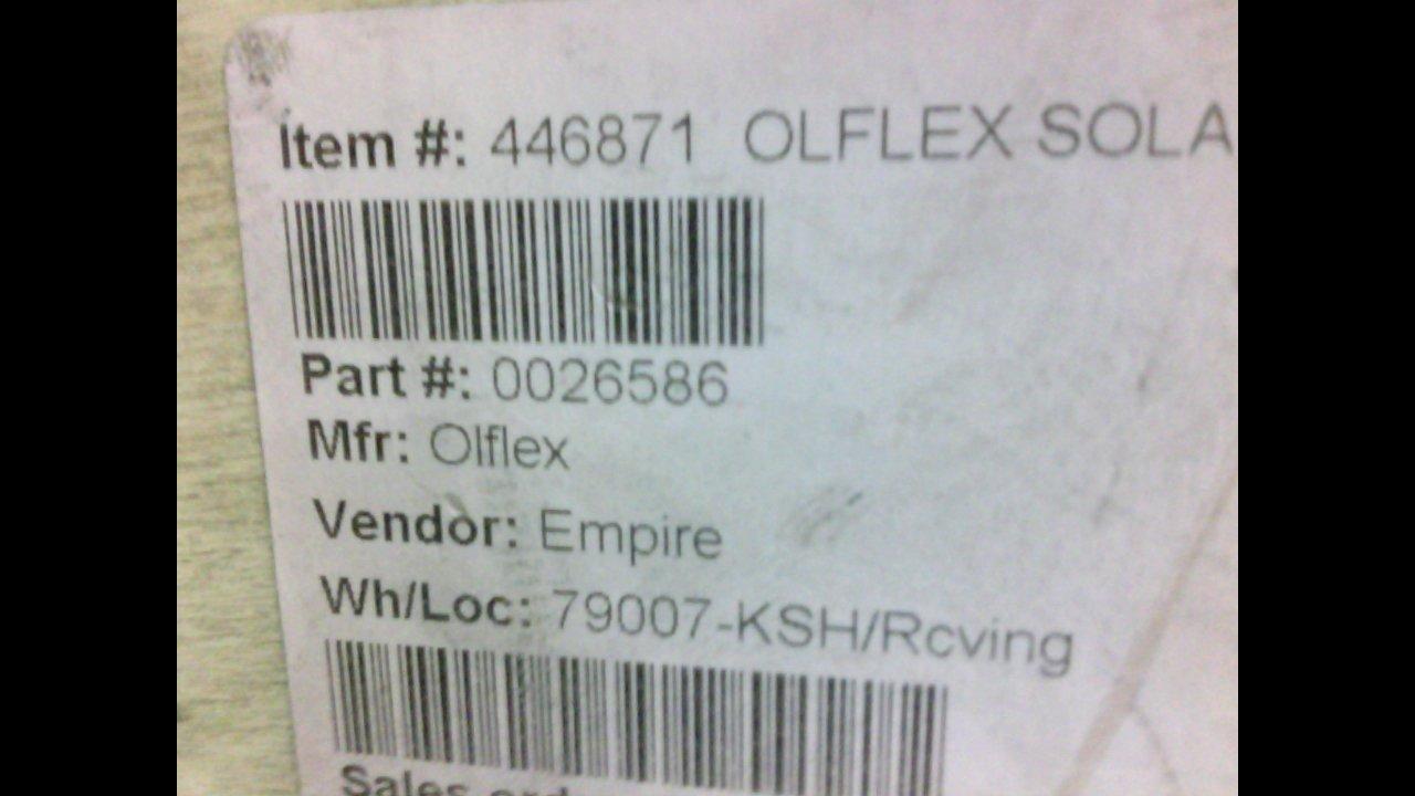 Olflex Auto-I 0026586 Solar XL Cable 12Awg 1000V 485 Feet 0026586