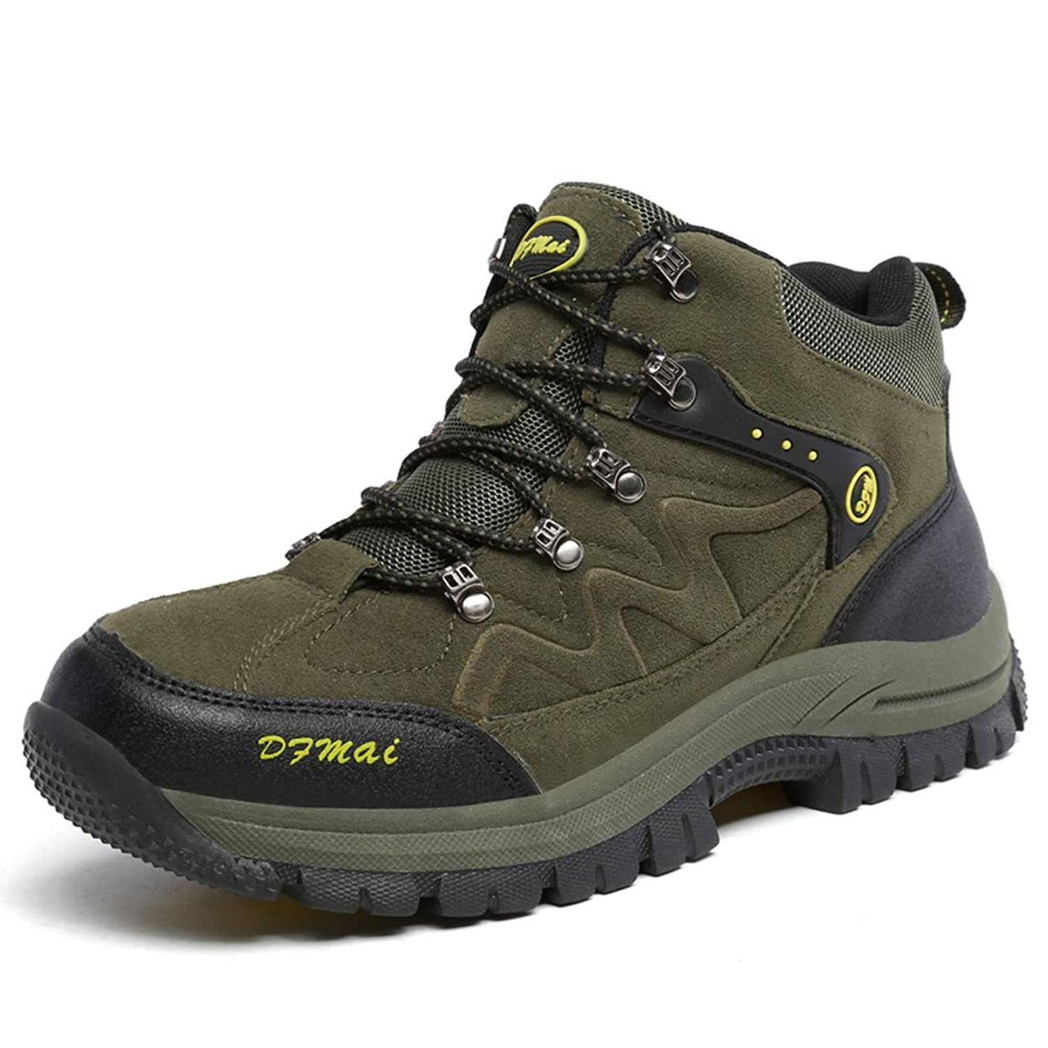 bba6dd9fe84 Men s Hiking Boots Wear-resistant Shock Absorption Rubber Sole Outdoor  Trekking Walking High Shoes hot