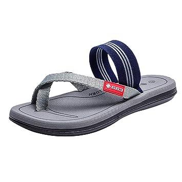 e574bafa902 Bluestercool Unisexes Sandales Pantoufles Hommes Femmes Mode Rayé Imprimé  Flip Flop Slippers Shoes Haute Qualité Slip