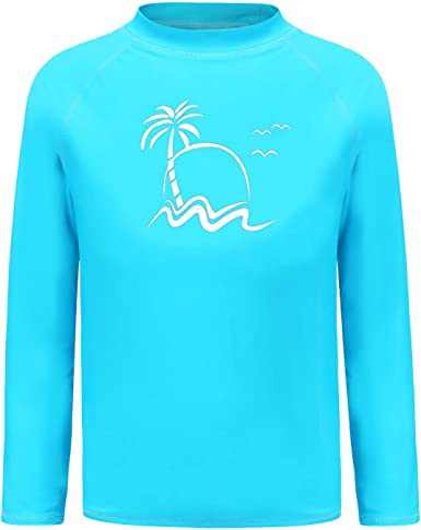 Sun Protection Rashguard Youth Tops Long Sleeve Outdoor Performance Workout Active Shirt DAYOUNG Boys UPF 50