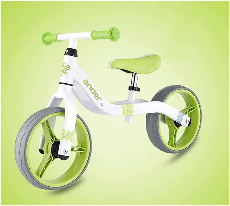 12 '' Coche de Equilibrio para niños sin Pedales Slider Bike Super Luz Peso Bicicleta Ajuste para 1-6 años de Edad 75-125cm Scooter Infantil (2.62kg)