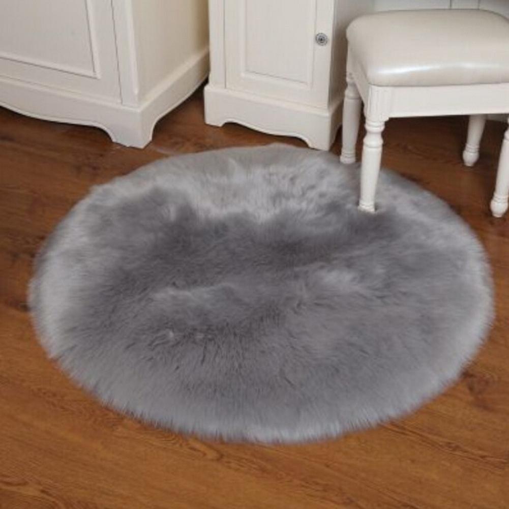 30 cm Tapis de sol ou de chaise antid/érapant violet Tapis rond Tapis imitation peau de mouton Fat.chot doux et soyeux en fausse fourrure