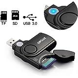 USB 3.0 Speicherkartenleser mit Speicher-Slot-Abdeckung für SD-Karte / Micro SD / TF-Karte / MMC-Karten   2 Steckplätze Super Speed Speicherkartenleser