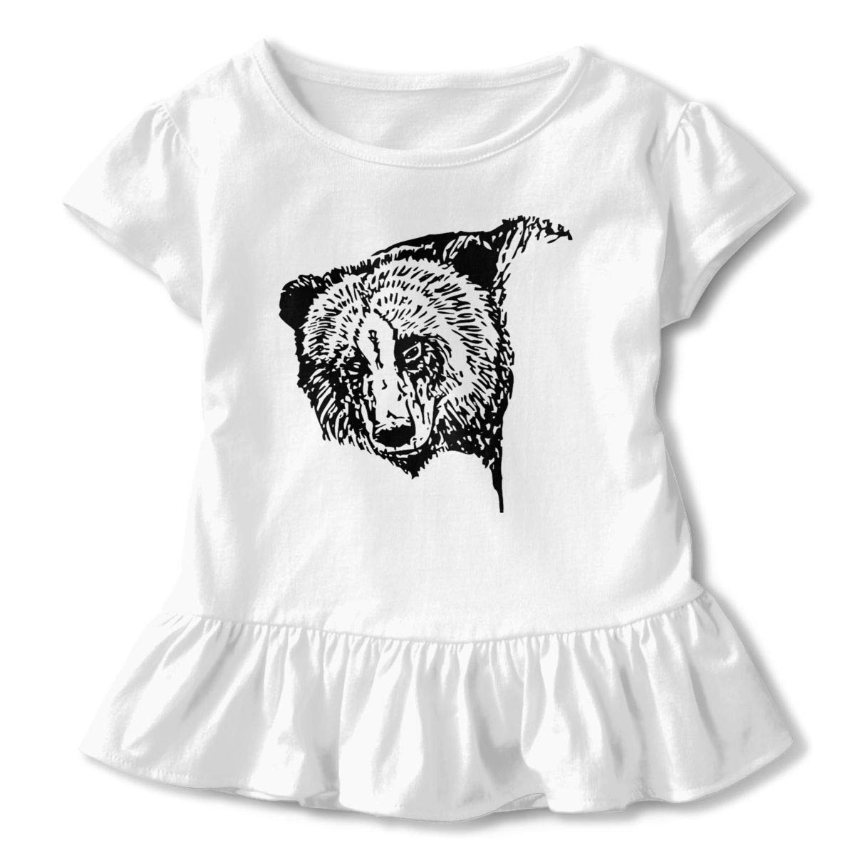 JVNSS American Black Bear Shirt Design Toddler//Infant Flounced T Shirts Graphic Tees for 2-6T Baby Girls