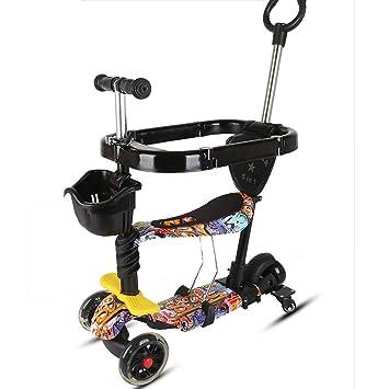 Patinete para Niño 3 En 1 Scooter para Niños Manija Altura ...