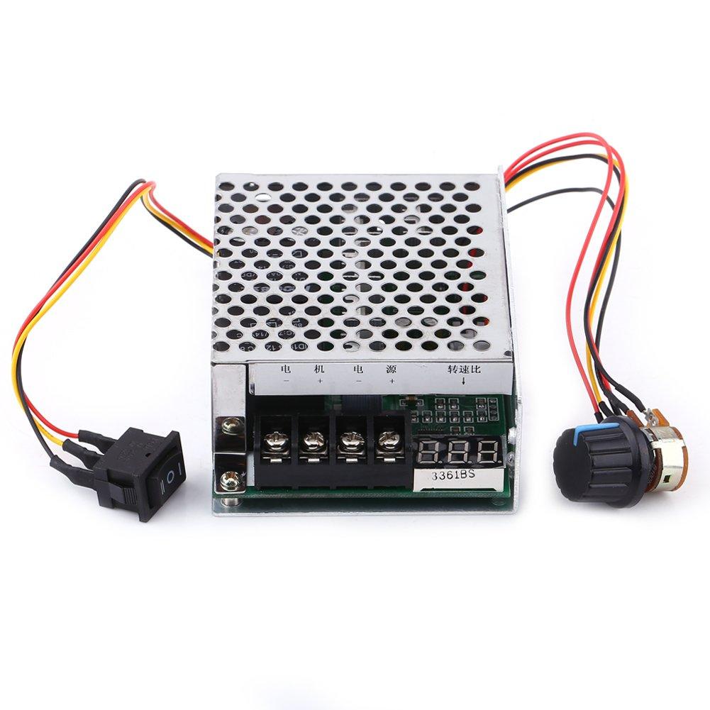 DC Motor Speed Controller Reversible with Digital Display Reversible Switch for DC Motor Driver Module 12V 24V 36V Walfront