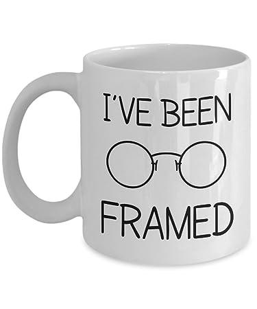 Amazon.com: Optometry Gift Mugs - I\'ve Been Framed - Funny Glasses ...