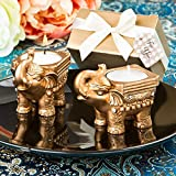 48 Gold Good Luck Indian Elephant Candle Holders