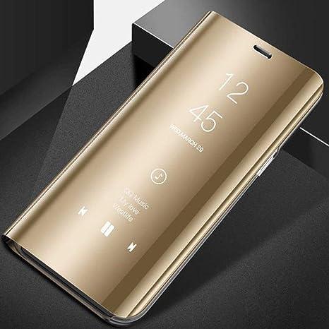 El más Nuevo Electrochapado Smart Mirror Stand Case Teléfono móvil ...