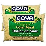 Goya Fine Yellow Corn Meal | Harina de Maiz Amarilla | 24 oz each - Pack of 2