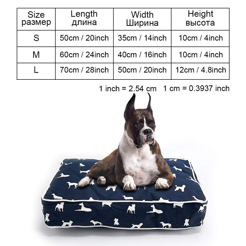 Navy blueecoo039 L as picturesCookisn Dog Bed Bench Dog Beds Mats for Small Medium Large Dogs Puppy Bed Cat Pet Kennel Lounger Dog Bed Sofa House for Cat Pet Products greycoo039 M