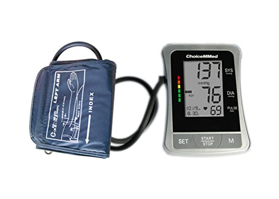 ChoiceMMed Auto Digital Upper Arm Type Blood Pressure Monitor with Color Code Indicator: Amazon.es: Electrónica