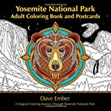 Yosemite National Park Adult Coloring Book And Postcards