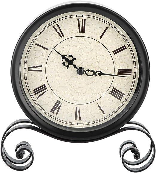 Delaman Reloj Despertador Antiguo Vintage Reloj de Soporte Redondo ...