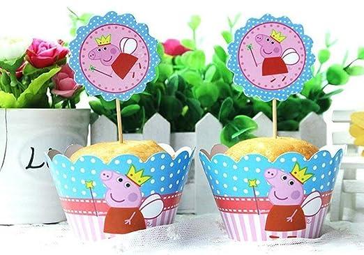 CUP CAKES Tazas para Tartas de 12 x Peppa Pig para niños ...