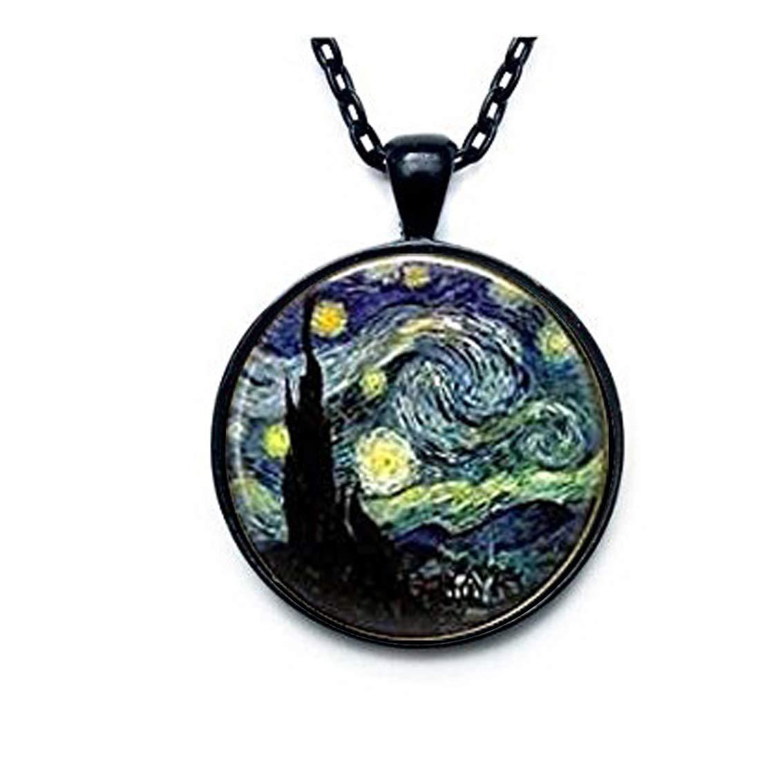 Starry Night Pendant, Starry Night Necklace, Vincent van Gogh Pendant