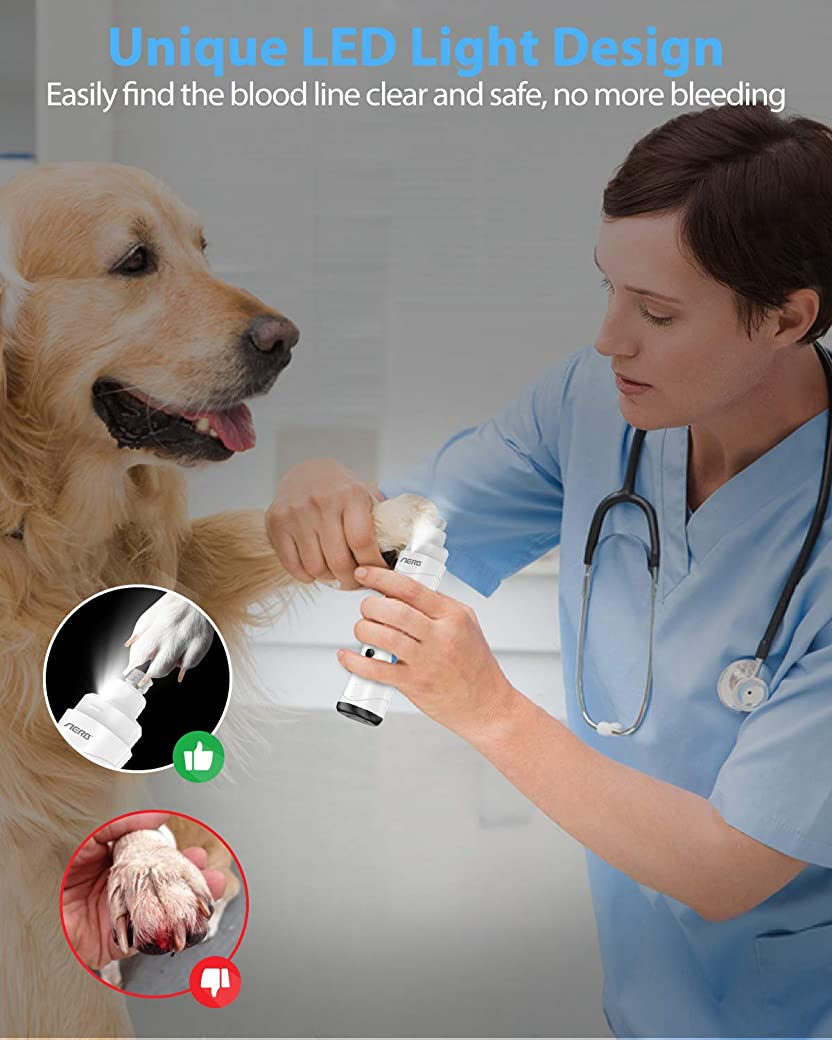 Aerb Lima de Uñas Eléctrica para Perro y Gato