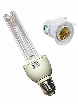 Esterilización Antibacteriana Tasa 99% La lámpara ultravioleta integrada germicida virus Bacteria Mold Germ con adaptador gratuito: Amazon.es: Productos ...