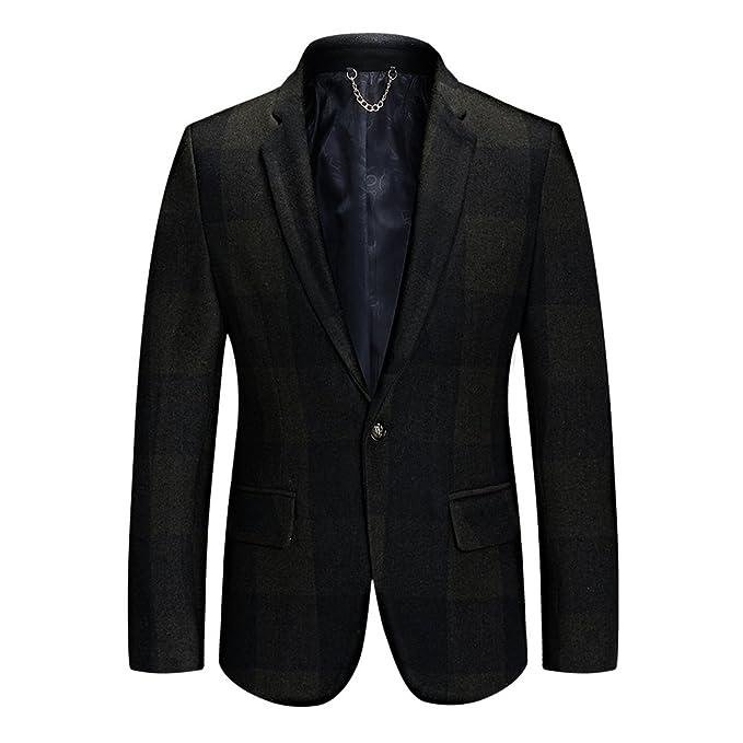 TAPOO Chaqueta de Traje Slim Fit para Hombre Clásico Blazer Invierno Americana de Lana: Amazon.es: Ropa y accesorios