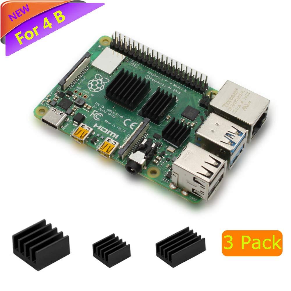 Amazon com: Raspberry Pi 4 Heatsink, iUniker Raspberry Pi