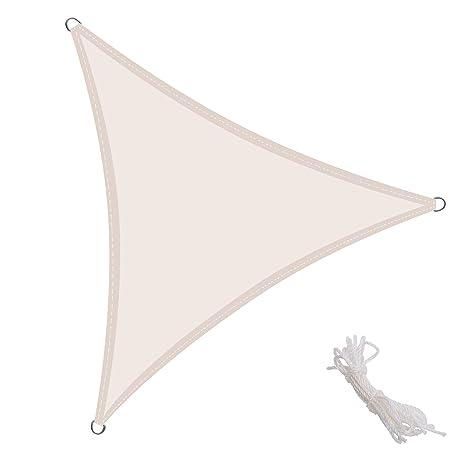 KingShade 4x4x4m Triangular Toldo Vela de Sombra para Exteriores Patio, el jardín, protección UV