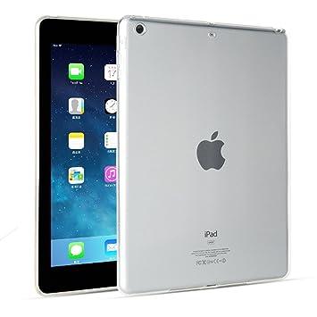 FAS1 Funda para iPad Mini, Transparente Suave TPU Silicona Carcasa Trasera Protector De para Apple iPad Mini 1/2/3 (Transparente)