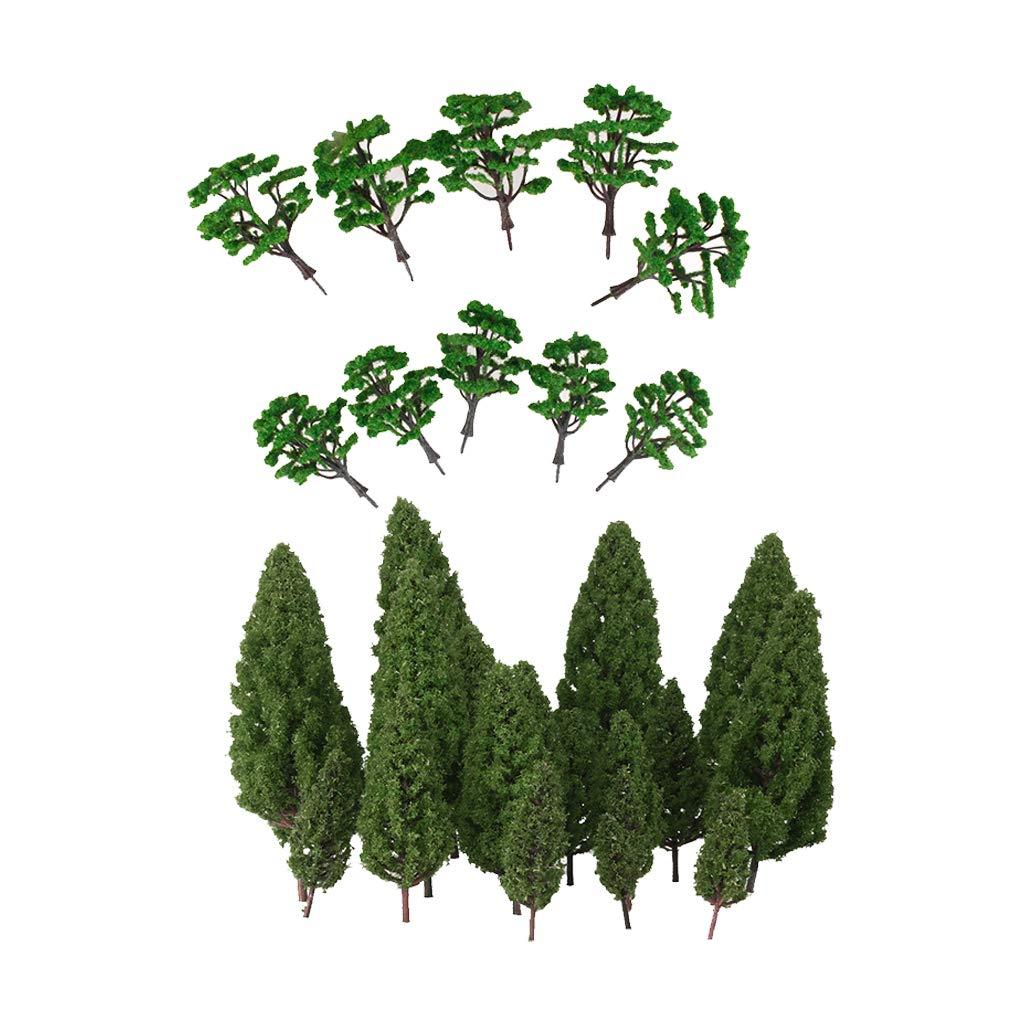 SM SunniMix Mini Modelo de Árboles Verde para Modelismo Escenario ...