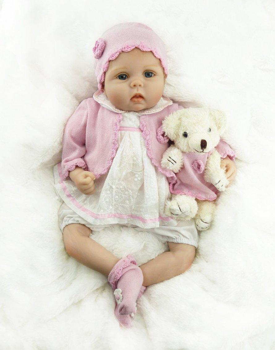 Amazon.es: AIBAOLIAN Muñecas Reborn Bebé Niña 22 Pulgadas ...