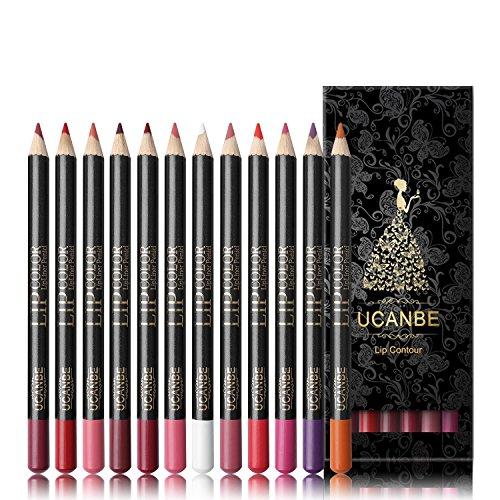 12 Color Waterproof Long Lasting Smooth Lipliner Pencil Set