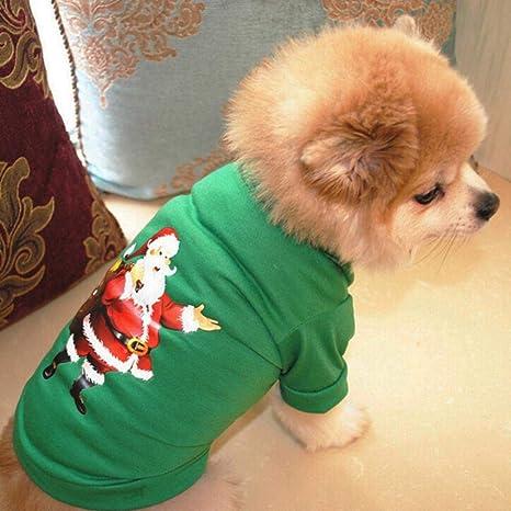WUQIAN 1PC Ropa de Perro de Navidad Camiseta de poliéster Disfraz ...
