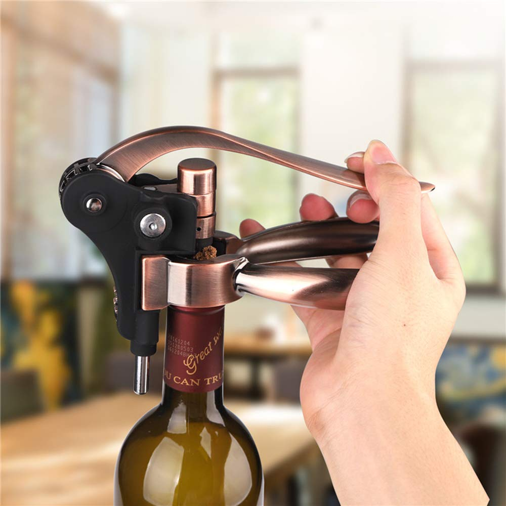Rabbit Wine Opener Professional Efficient Corkscrew Bottle Opener with Foil Cutter and Extra Corkscrew Spiral (5) by Sanser (Image #3)