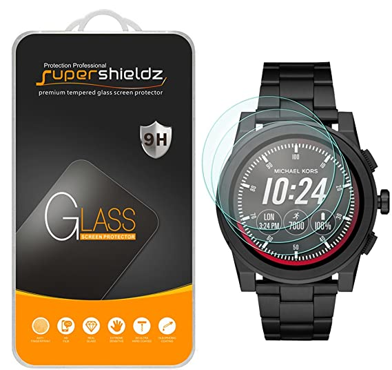 (3 Pack) Supershieldz for Michael Kors Access Grayson Smartwatch (Gen 2) Tempered Glass Screen Protector, Anti Scratch, Bubble Free