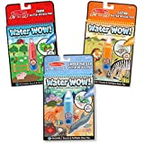 "Melissa & Doug Water Wow! Reusable Color with Water Activity Pad 3-Pack, Farm, Safari, Under the Sea, 10"" H x 6"" W x 0.5"" L"