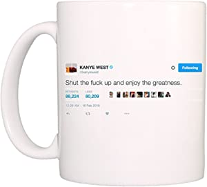 DKISEE Funny Coffee Mug, Motivational Mug, Ceramics Mugs, Funny Gift, 11oz, White